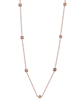 BETTINA JAVAHERI Carre Two-Sided Diamond Necklace