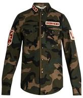 Valentino Patch-appliqué Camouflage-print Cotton Jacket