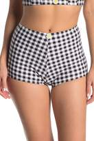 Betsey Johnson The Picnik High Waisted Boyshort Bikini Bottom