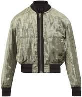 Haider Ackermann Zip-through velvet bomber jacket