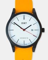 Matte Black-White & Orange Watch