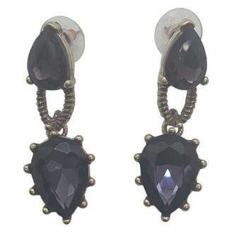 Oscar de la Renta Purple Crystal Earrings