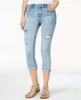 Vanilla Star Juniors' Ripped Cropped Skinny Jeans