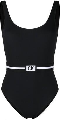 Calvin Klein Logo Waistband Swimsuit