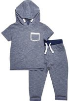River Island Mini boys blue hoodie and joggers outfit