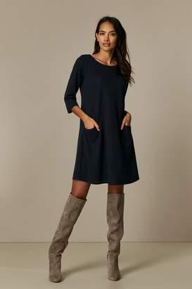Wallis PETITE Navy Pocket Swing Dress
