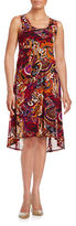 Context Paisley Hi-Lo Dress