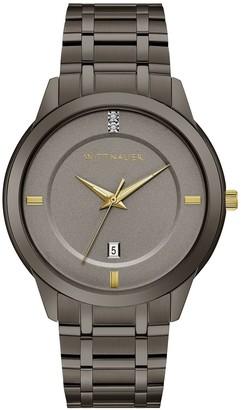 Wittnauer Men's Gunmetal Diamond Accent Watch