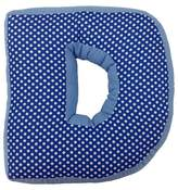 "One Grace Place Simplicity Letter Pillow ""D"" - Blue (12""X11"")"