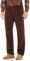 Roundtree & Yorke Pleated Inno-Flex Waist Corduroy Pants