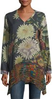 Johnny Was Serenity Floral-Print V-Neck Tunic