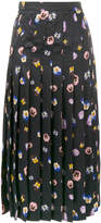 Christopher Kane pansy printed skirt