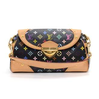 Louis Vuitton Beverly Black Cloth Handbags