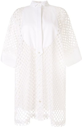 Sacai Laser Cut Shirt Dress