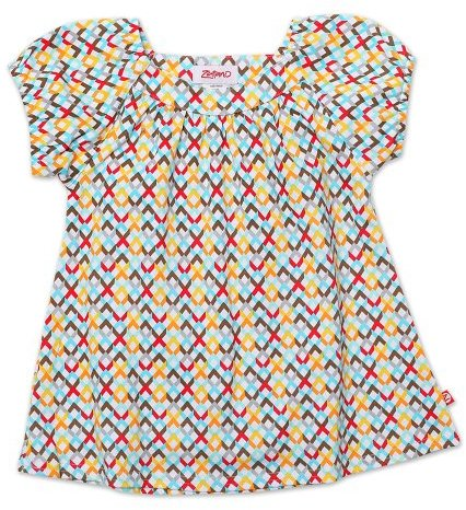 Zutano Girls 2-6X Helix Short Sleeve Viola Top