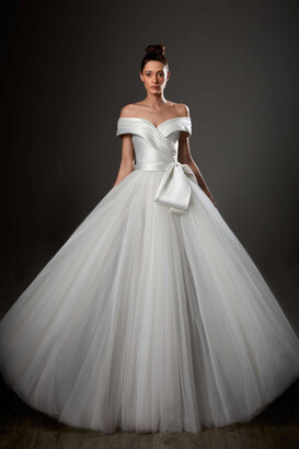 Ziad Germanos Off Shoulder A-Line Ball Gown