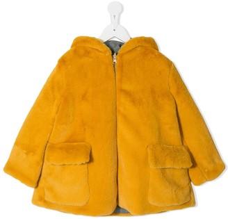 Owa Yurika Hooded Faux Fur Coat