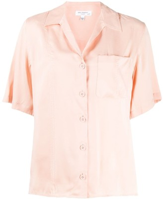 Equipment short-sleeve shift blouse
