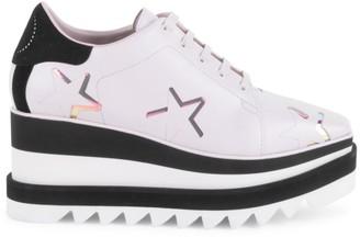 Stella McCartney Sneak-Elyse Star Platform Wedge Sneakers