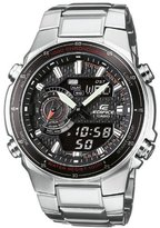 Edifice Men's Quartz Watch with Black Dial Analogue/Digital Display and Silver Stainless Steel Strap EFA-131D-1A1VEF