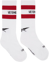 Vetements White Reebok Edition Tennis Socks