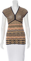 M Missoni Knit Metallic Top