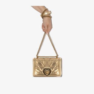Dolce & Gabbana small Devotion quilted leather cross-body bag