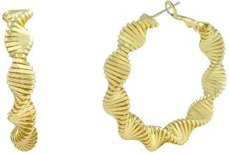 Savvy Cie 14K Yellow Gold Plated Zig Zig Swag Earrings