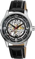 Akribos XXIV Men's AK410SS 'Saturnos' Skeleton Automatic Leather Strap Watch