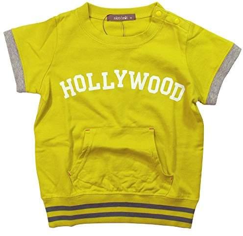 nico hrat (ニコ フラート) - 《夏物》 nico hrat(ニコフラート) 製品洗い加工済み 天竺HOLLYWOOD半袖Tシャツ 80cm /GN NO.B-260141