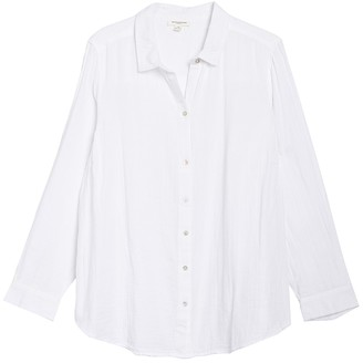 BeachLunchLounge James Button Front Tunic Shirt (Plus Size)