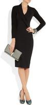 Donna Karan Stretch cotton-blend and stretch-crepe dress