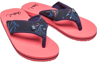 Animal Womens Swish Upper AOP Flip Flops Psycho Red