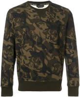 Alexander McQueen camouflage skull sweatshirt