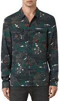 AllSaints Redfern Slim Fit Button Down Shirt