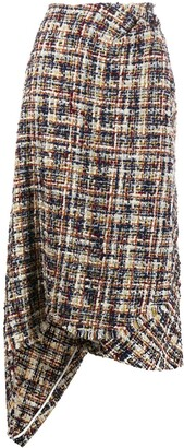 Lanvin Tweed Asymmetric Skirt