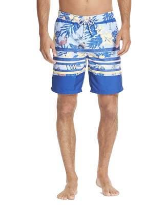 Izod Men's Printed Swim Trunks with Mesh Lining