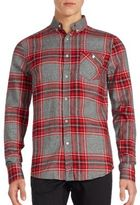 Sovereign Code Hayes Plaid Cotton Button-Down Shirt