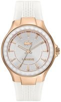 Lacoste 2000774 38mm Gold Plated Stainless Steel Case White Silicone Mineral Women's Watch