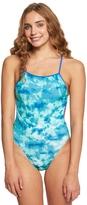 Speedo Turnz Women's Cloud Games Tie Back One Piece Swimsuit 8155584