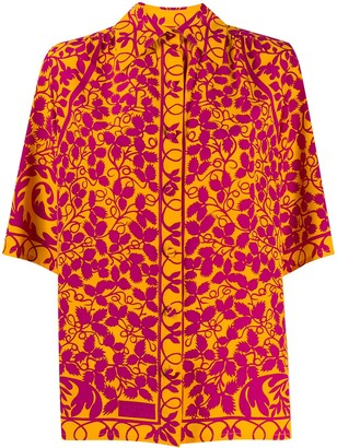Christian Lacroix Pre-Owned 1990s foliage print shirt