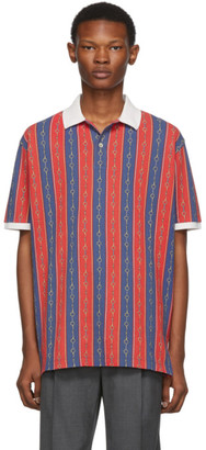 Gucci Red and Blue Chain Polo