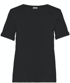 N. Jan 'n June - Boy Mini Rib Tshirt - L / Black - Black