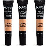 Jordana Complete Cover 2-in-1 Concealer & Foundation Creamy Natural 3 pcs
