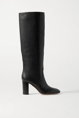 Loeffler Randall Goldy Leather Knee Boots - Black