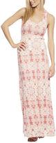 Arden B Patterned Tie-Dye Crossback Maxi Dress