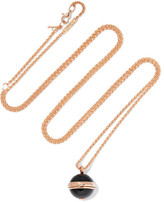 Piaget Possession 18-karat Rose Gold, Onyx And Diamond Necklace - one size