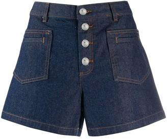 A.P.C. Button-Up Denim Shorts