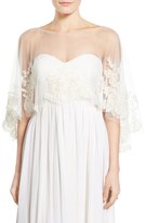 Jenny Yoo 'Ophelia' Embroidered Tulle Capelet