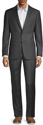 Hickey Freeman Classic-Fit Milburn IIM Series Plaid Wool Suit